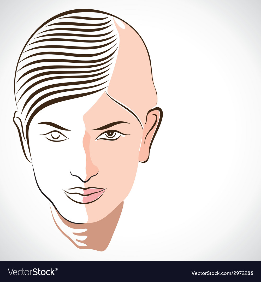 Abstract face portrait vector | Price: 1 Credit (USD $1)