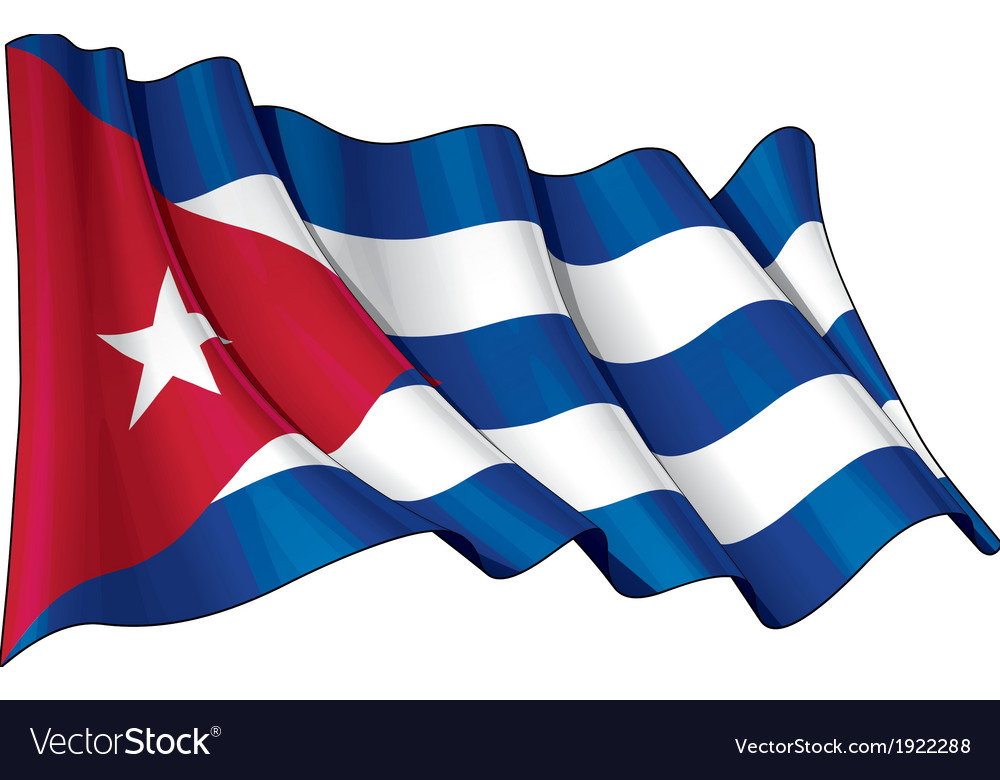 Cuba flag grunge vector | Price: 1 Credit (USD $1)