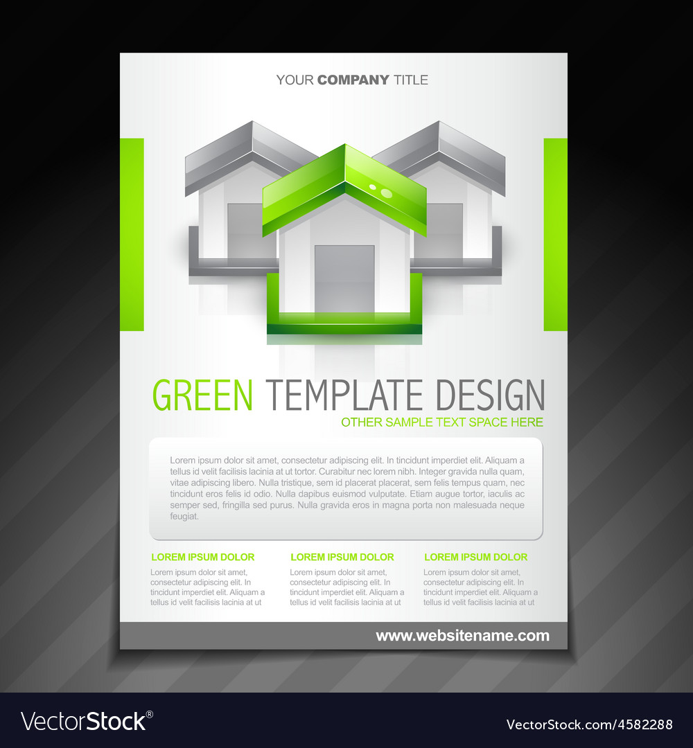 Eco green brochure flyer poster template vector | Price: 1 Credit (USD $1)