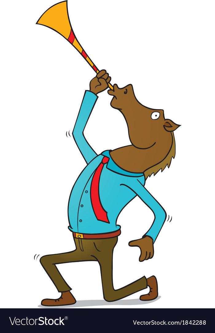 Happy horseman vector | Price: 1 Credit (USD $1)