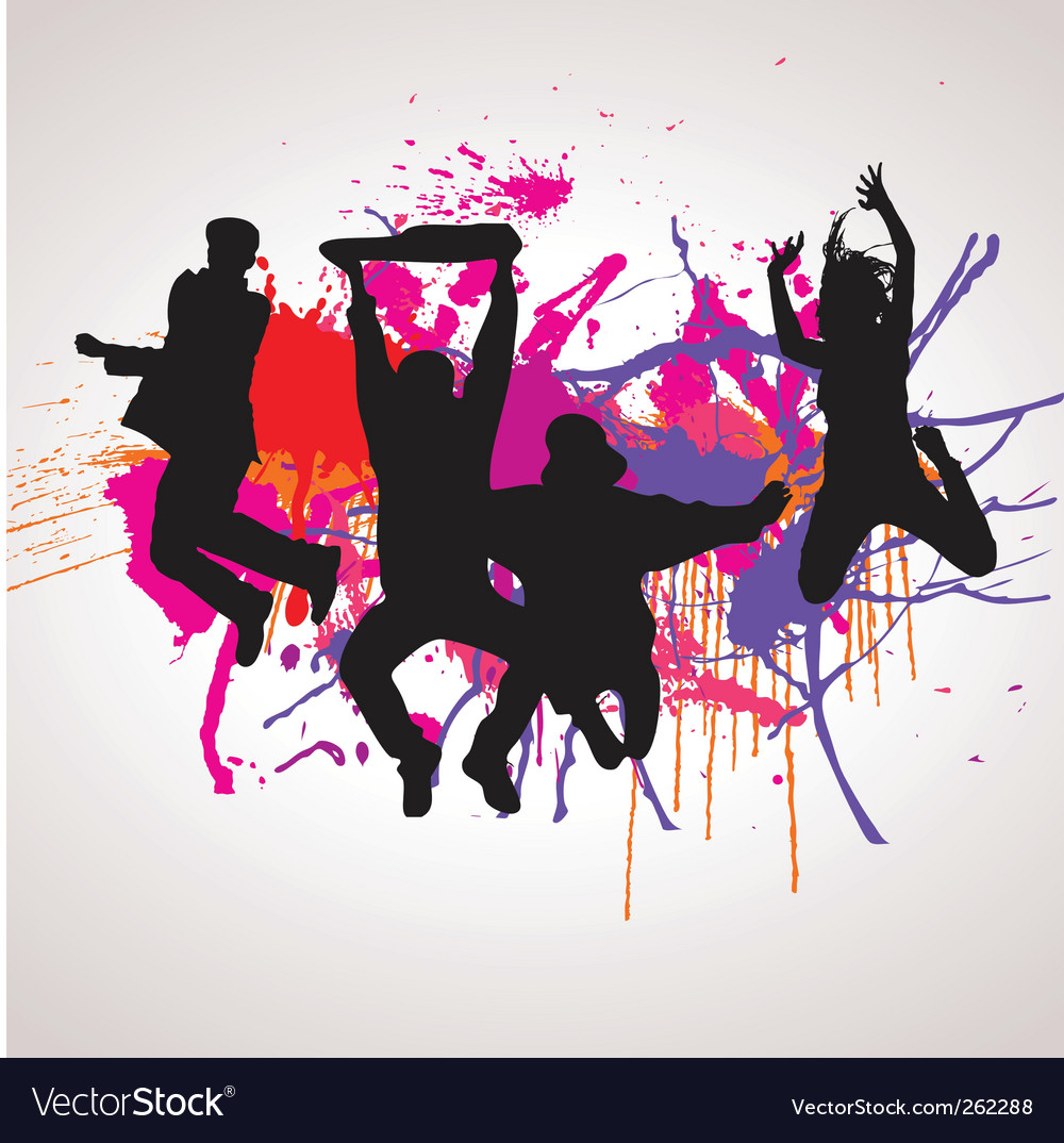 Jumping people vector | Price: 1 Credit (USD $1)