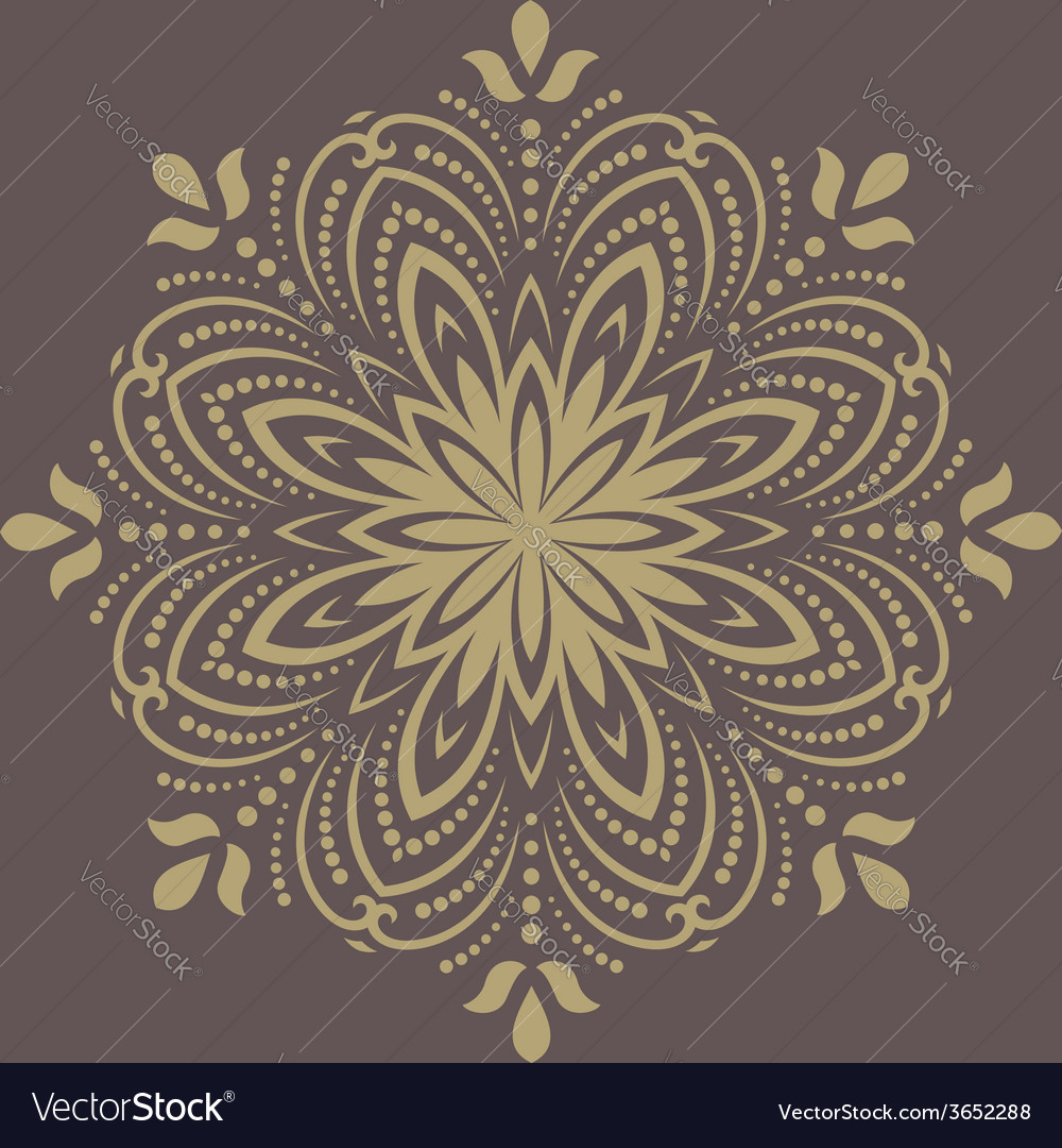 Orient pattern abstract golden ornament vector | Price: 1 Credit (USD $1)