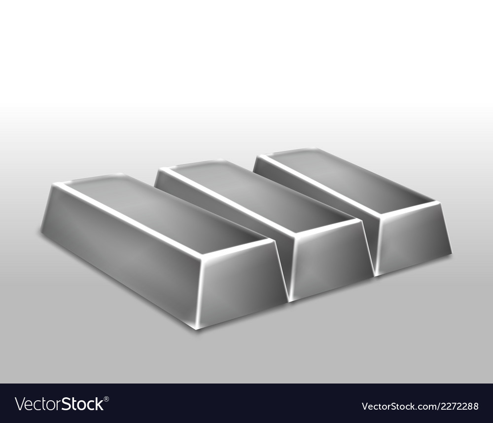 Platinum ingots isolated vector | Price: 1 Credit (USD $1)