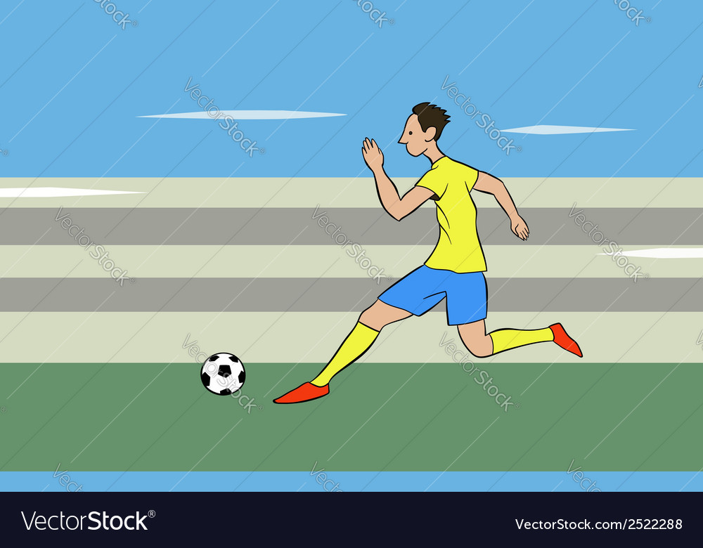Running with the ball vector | Price: 1 Credit (USD $1)