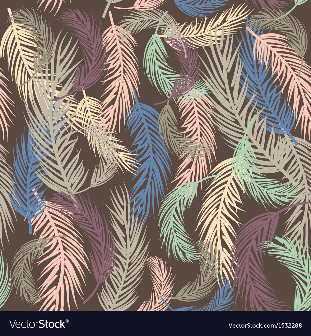 Seamless background with palm leaves vector | Price: 1 Credit (USD $1)
