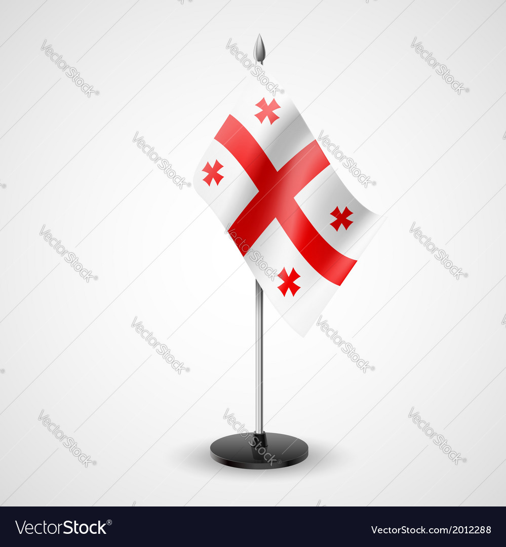 Table flag of georgia vector | Price: 1 Credit (USD $1)