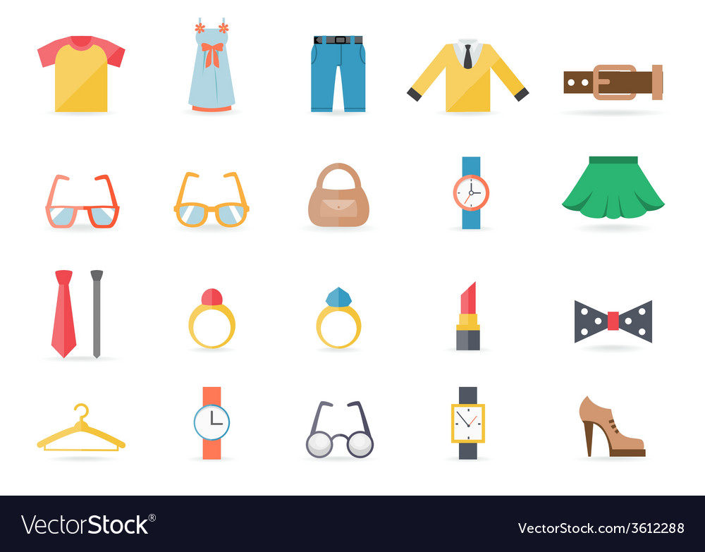 Various clothing and accessory themed graphics vector | Price: 1 Credit (USD $1)