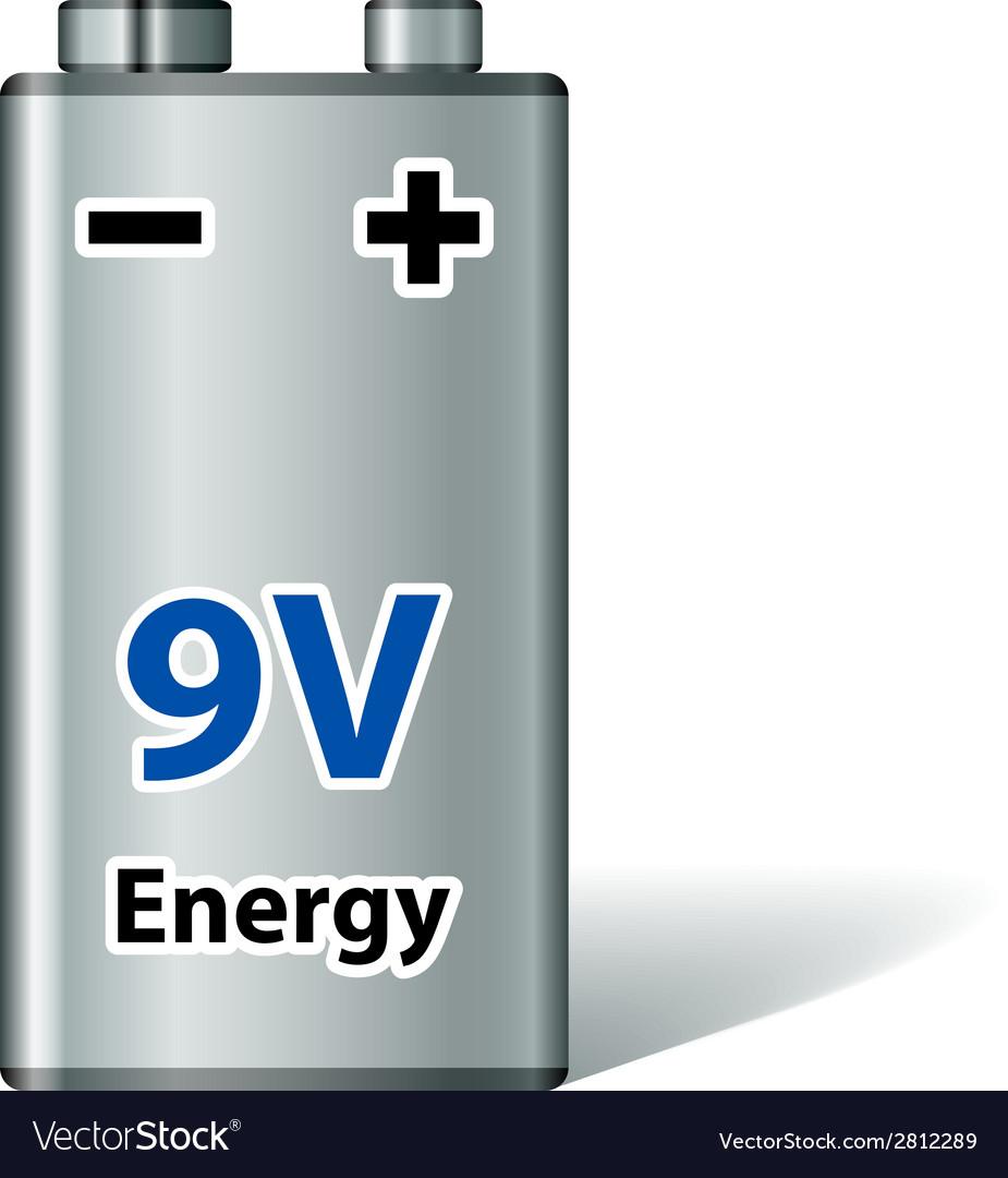 9v square battery vector | Price: 1 Credit (USD $1)