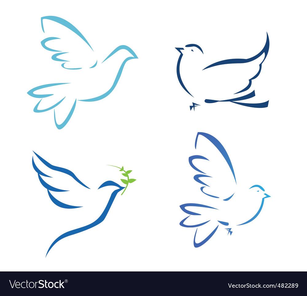 Birds flying vector | Price: 1 Credit (USD $1)
