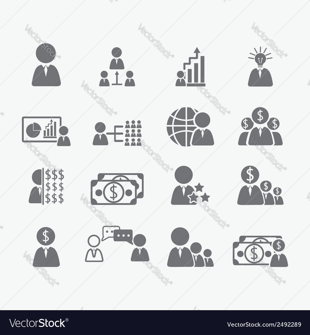 Business human icons vector | Price: 1 Credit (USD $1)
