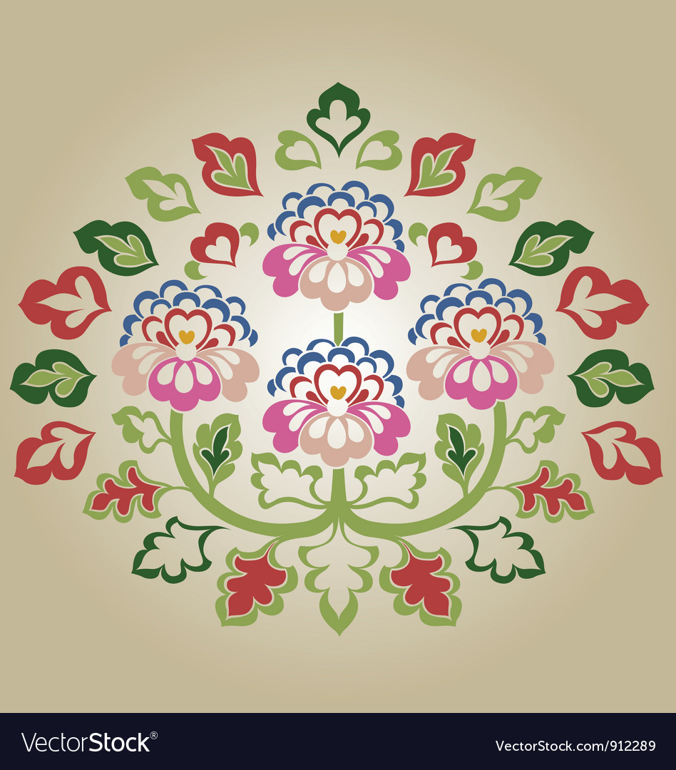 Fancy flower vector | Price: 1 Credit (USD $1)