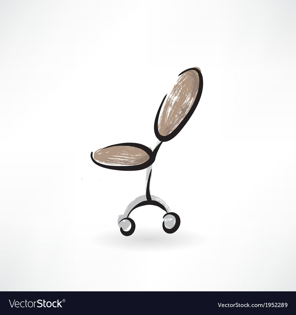 Office chair grunge icon vector | Price: 1 Credit (USD $1)