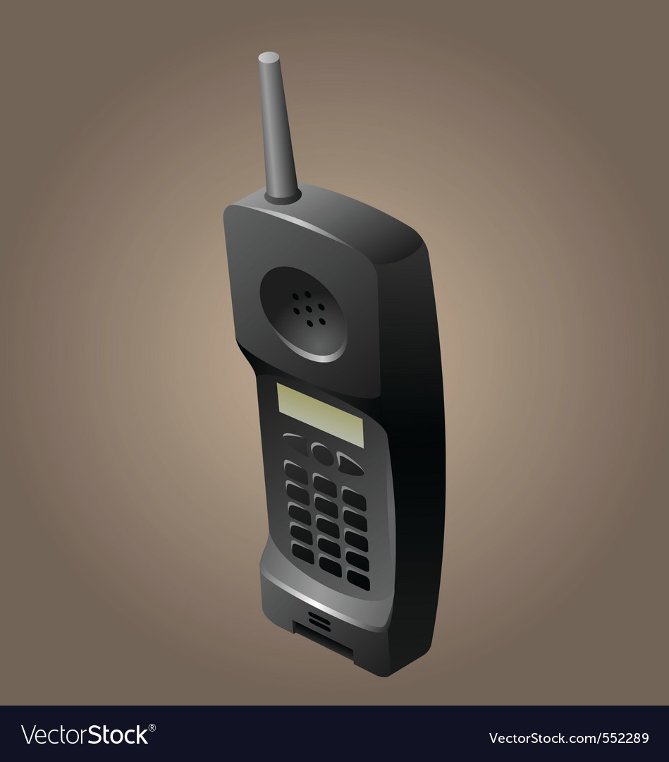 Old telephone vector | Price: 3 Credit (USD $3)