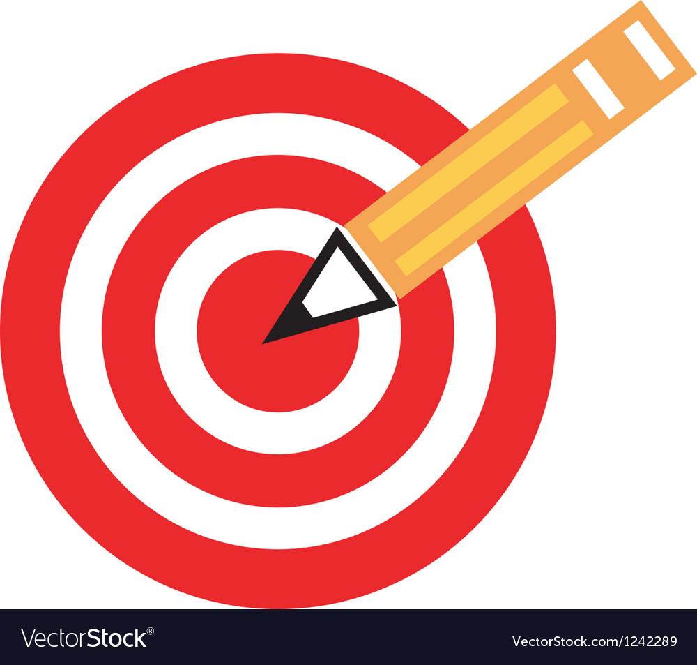 Pencil target vector | Price: 1 Credit (USD $1)