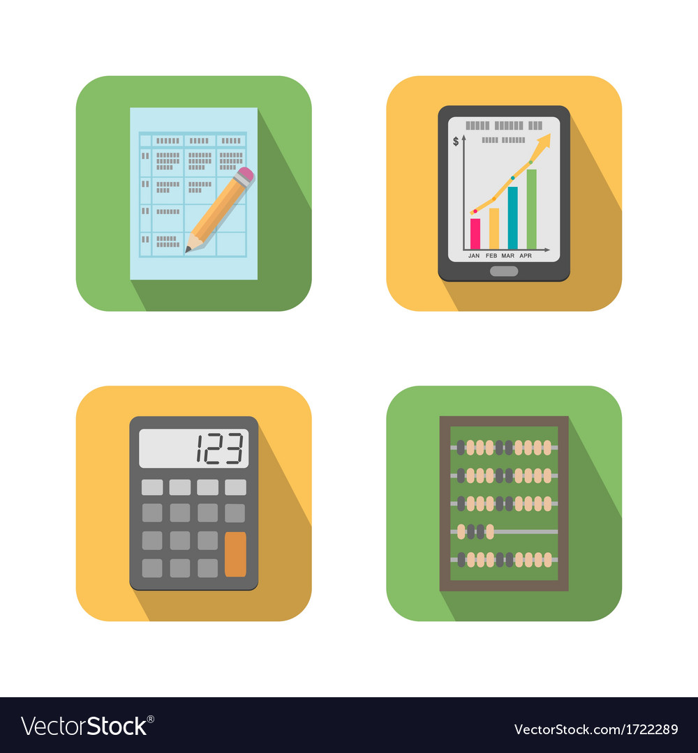 Set of financial business tools vector | Price: 1 Credit (USD $1)