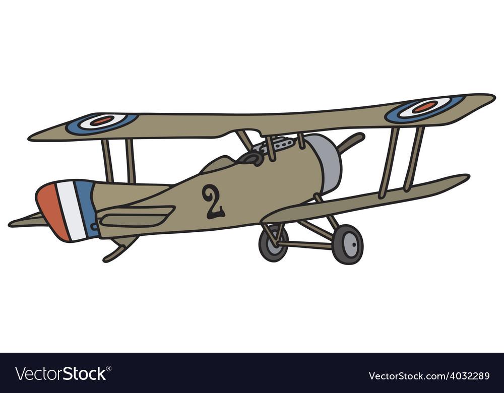Vintage military biplane vector | Price: 1 Credit (USD $1)