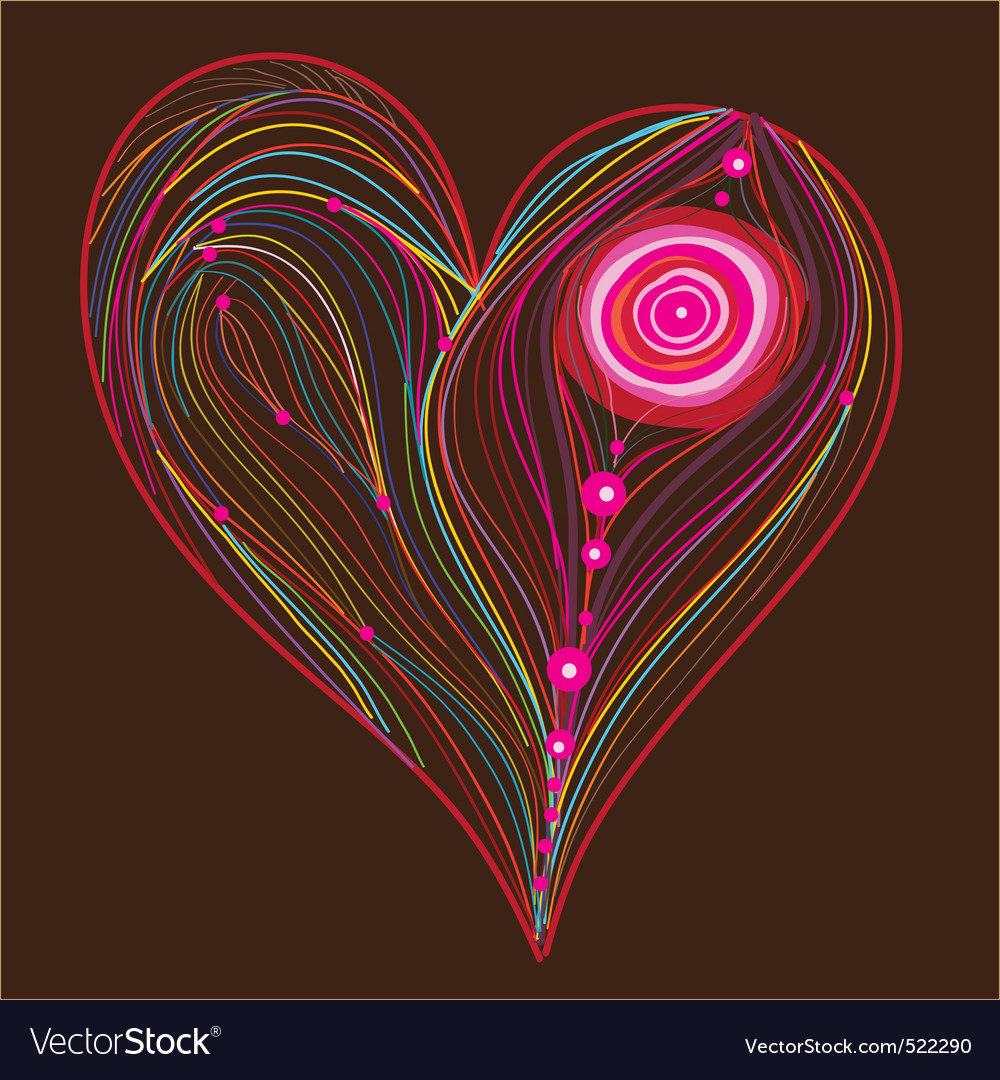 abstract heart vector | Price: 1 Credit (USD $1)