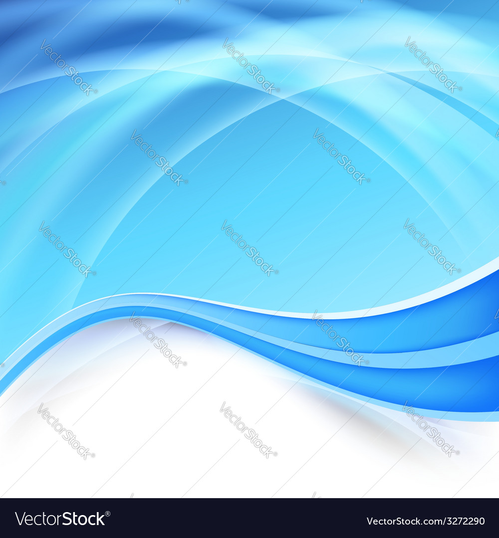 Blue background with glow swoosh lines vector | Price: 1 Credit (USD $1)