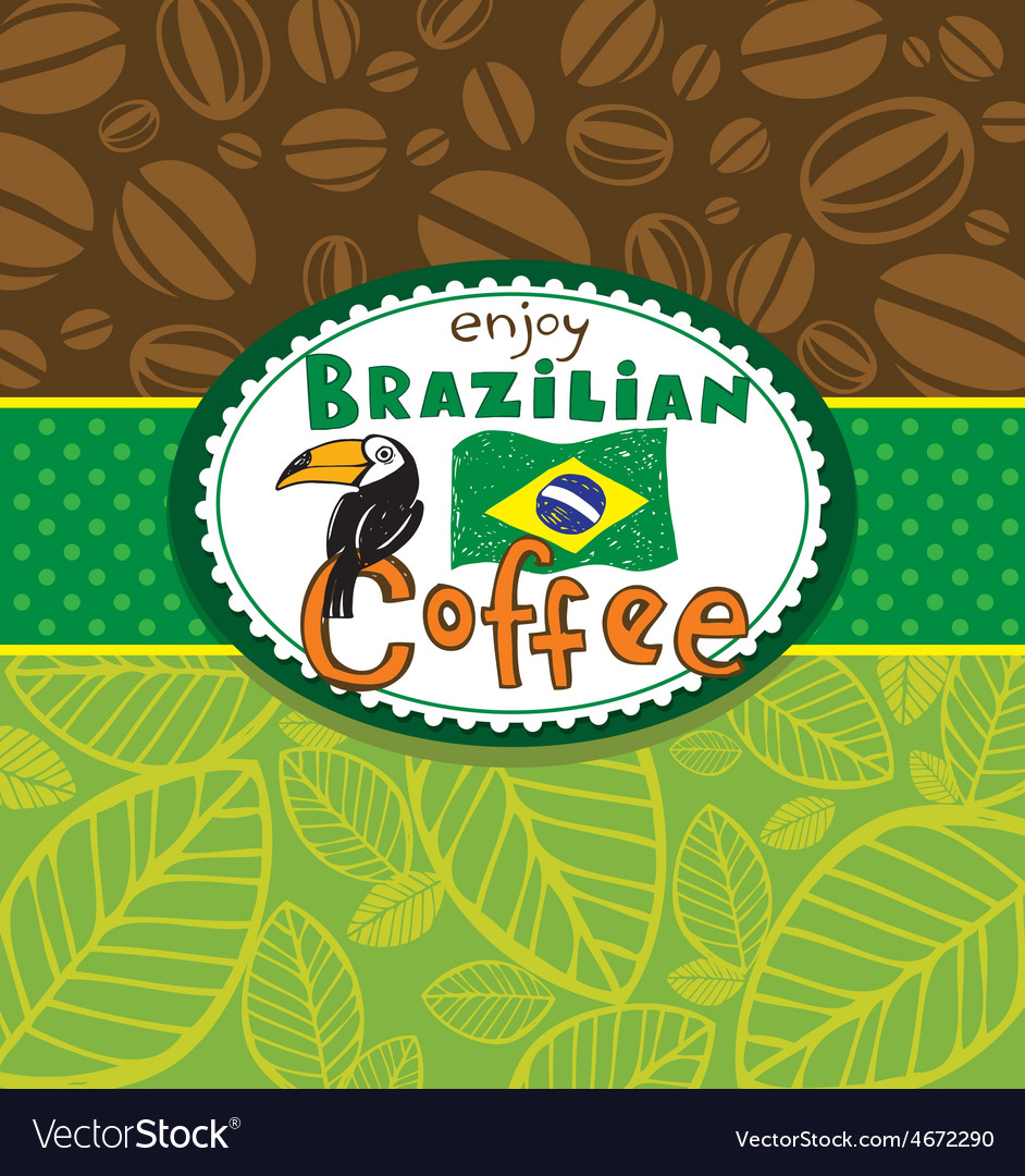 Brazilian coffee background vector | Price: 1 Credit (USD $1)