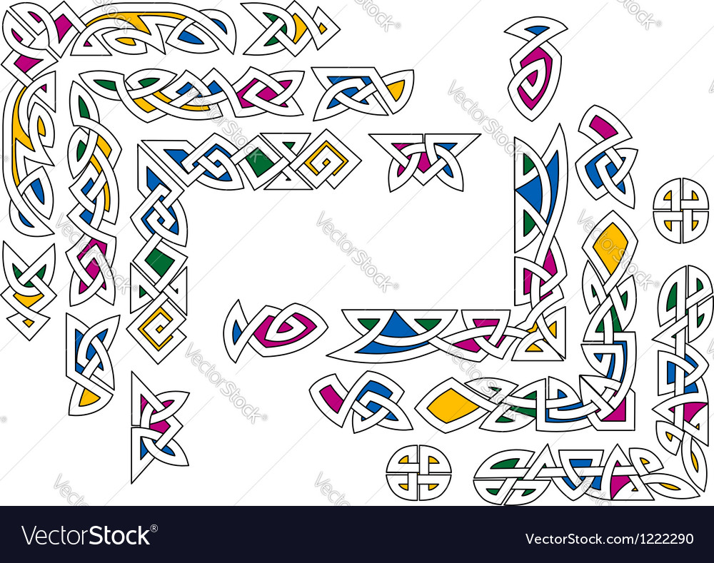 Celtic ornament elements vector | Price: 1 Credit (USD $1)