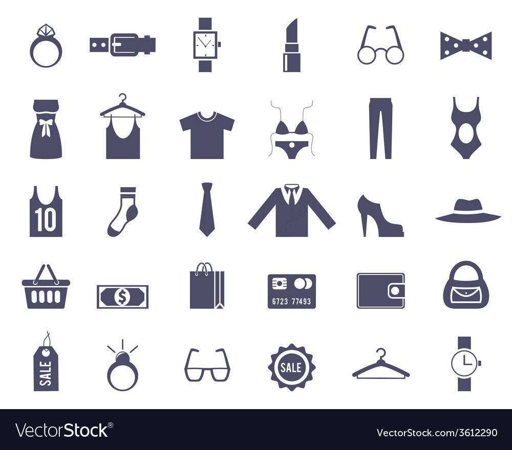 Clothing and accessories themed graphics vector | Price: 1 Credit (USD $1)