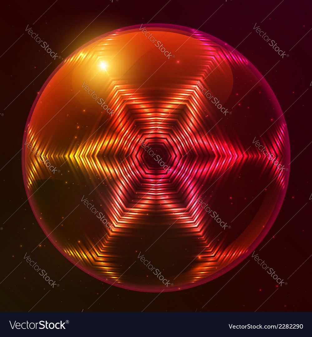 Fire red abstract sphere vector | Price: 1 Credit (USD $1)