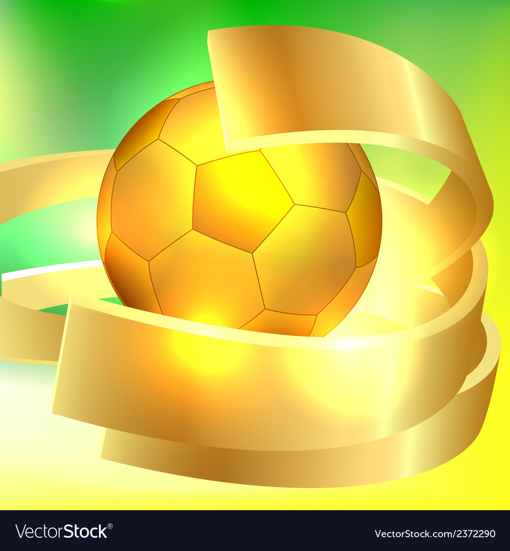 Golden soccer ball vector | Price: 1 Credit (USD $1)
