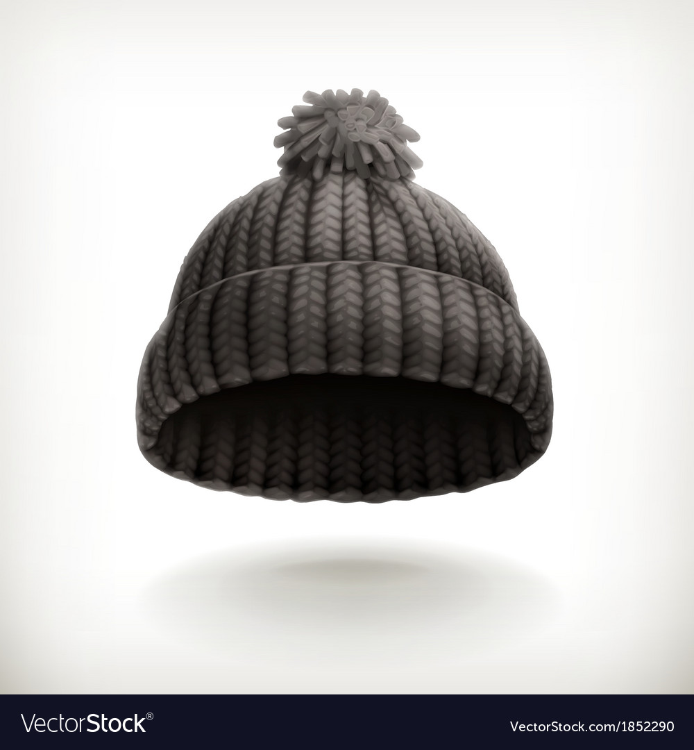 Knitted black cap vector | Price: 1 Credit (USD $1)