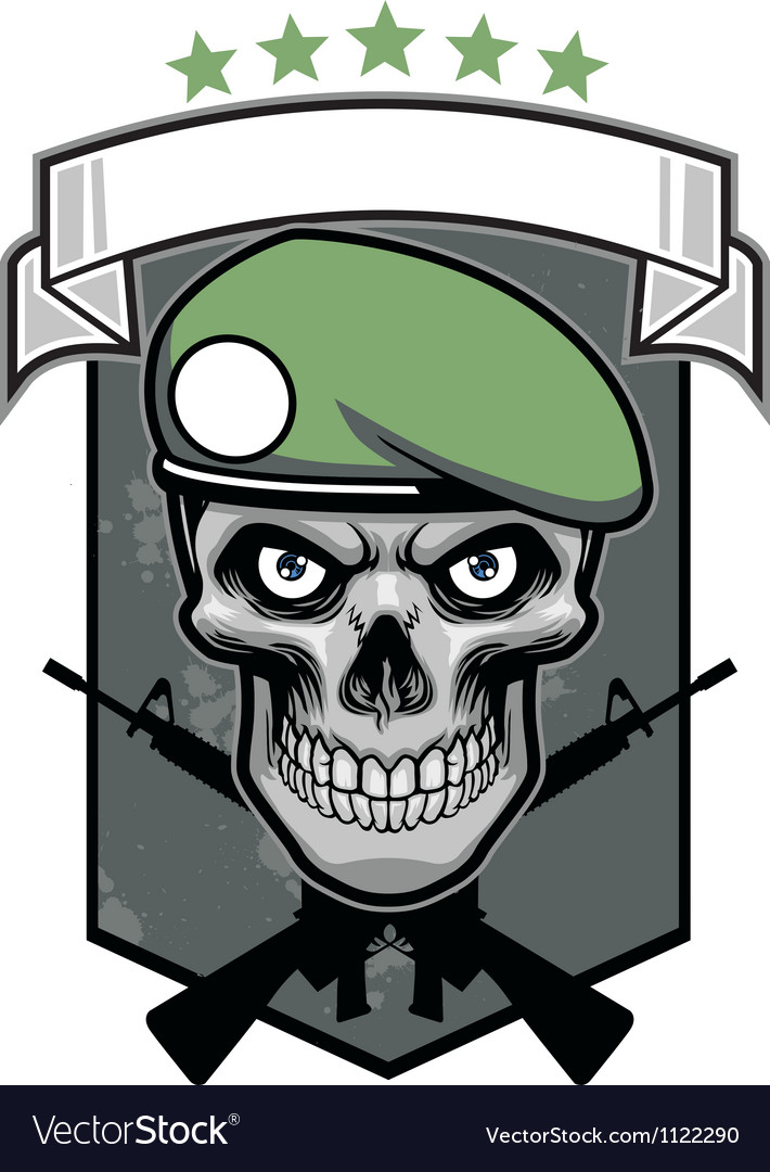 Military skull vector | Price: 1 Credit (USD $1)