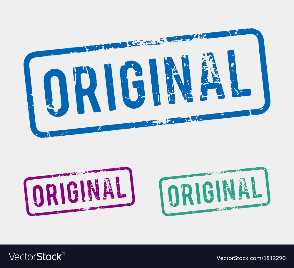 Original rubber stamp vector | Price: 1 Credit (USD $1)
