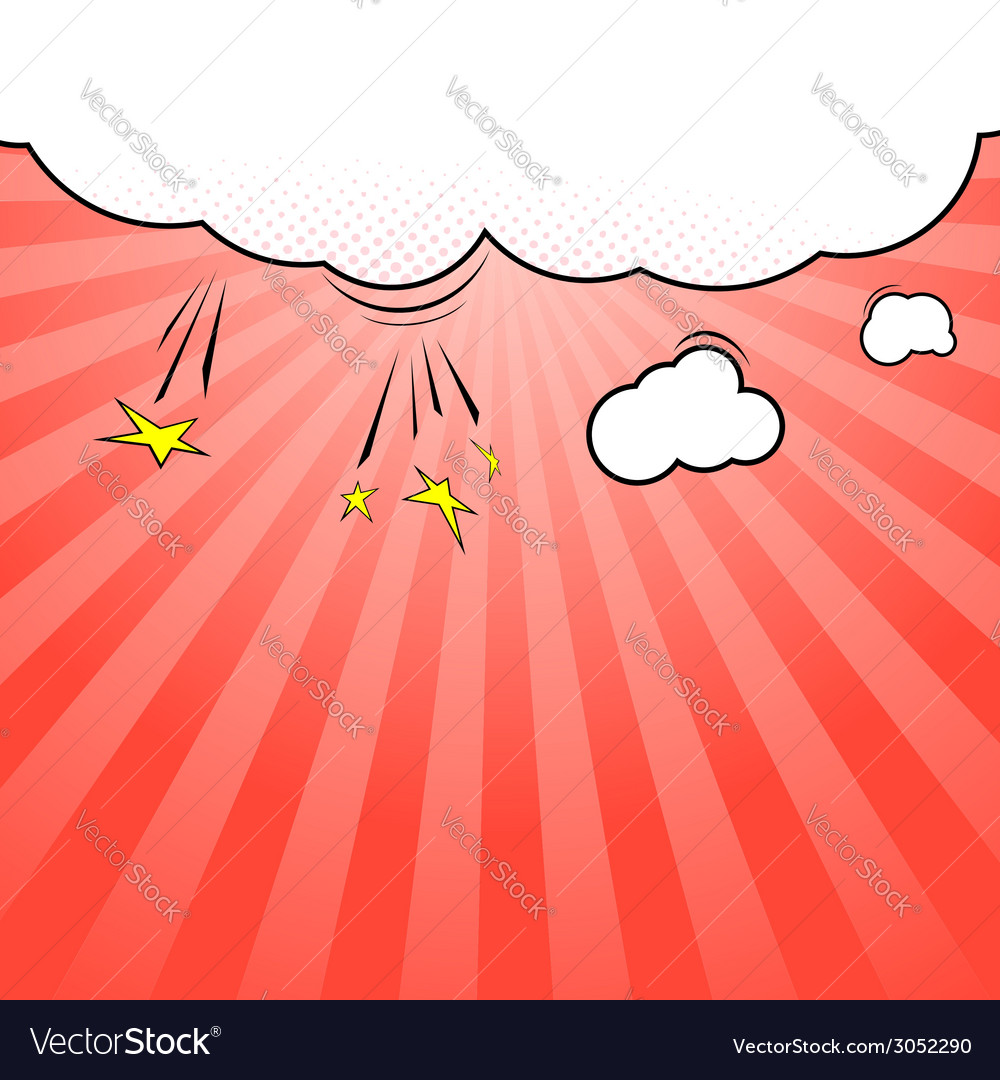 Pop-art style cloud explosion background template vector | Price: 1 Credit (USD $1)