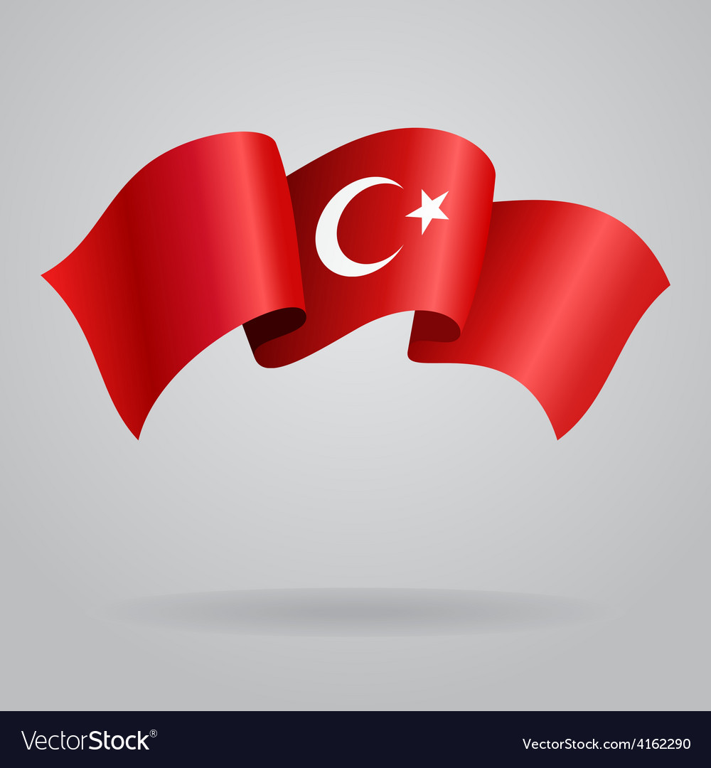 Turkish waving flag vector | Price: 3 Credit (USD $3)