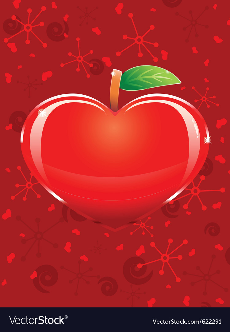 Appleshaped heart vector | Price: 1 Credit (USD $1)
