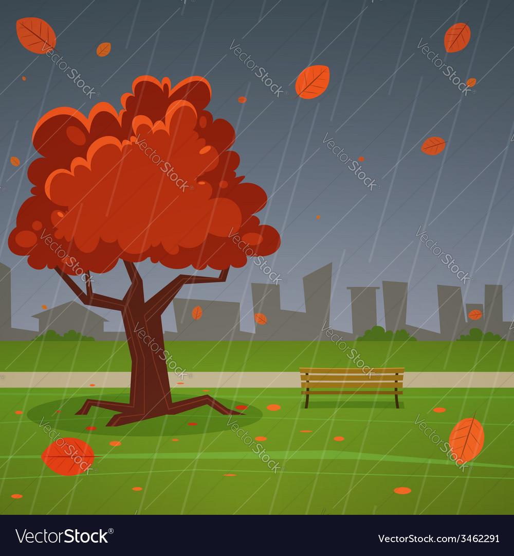 Autumn park vector | Price: 3 Credit (USD $3)