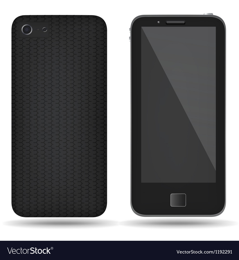 Carbon back cover smartphone vector | Price: 1 Credit (USD $1)
