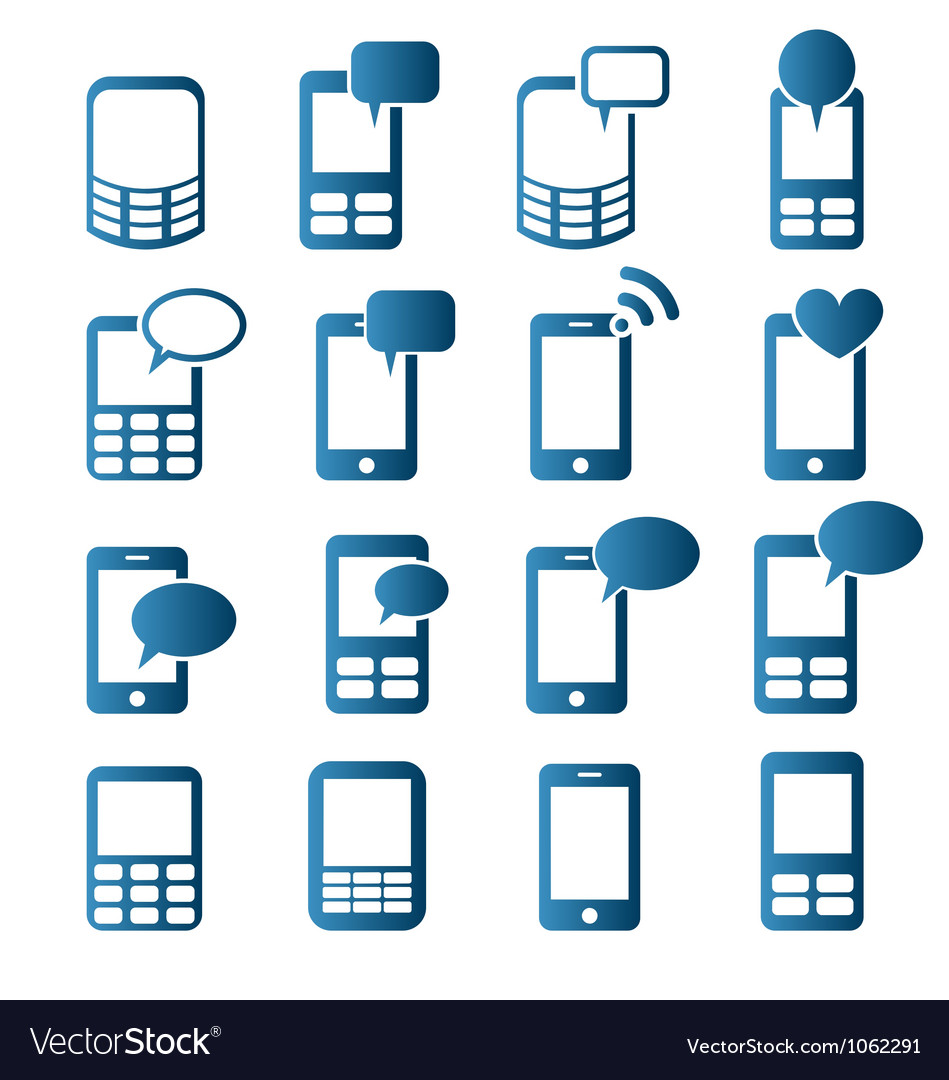 Cell phones icons vector   Price: 1 Credit (USD $1)