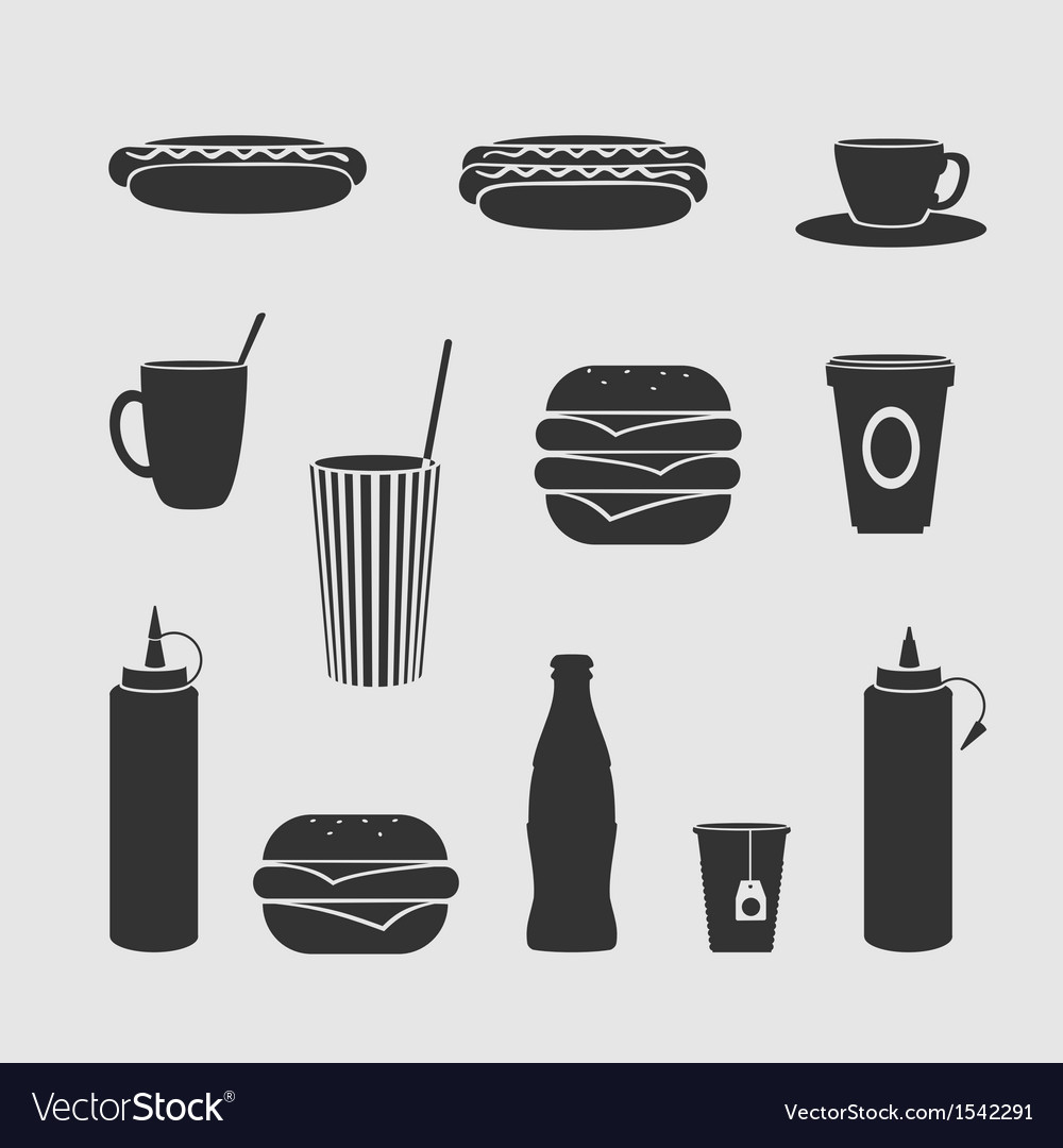 Diner set vector | Price: 1 Credit (USD $1)
