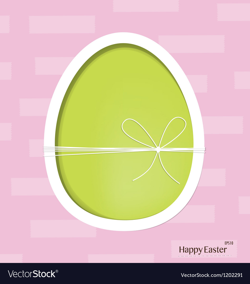 Easter egg happy easter card vector   Price: 1 Credit (USD $1)