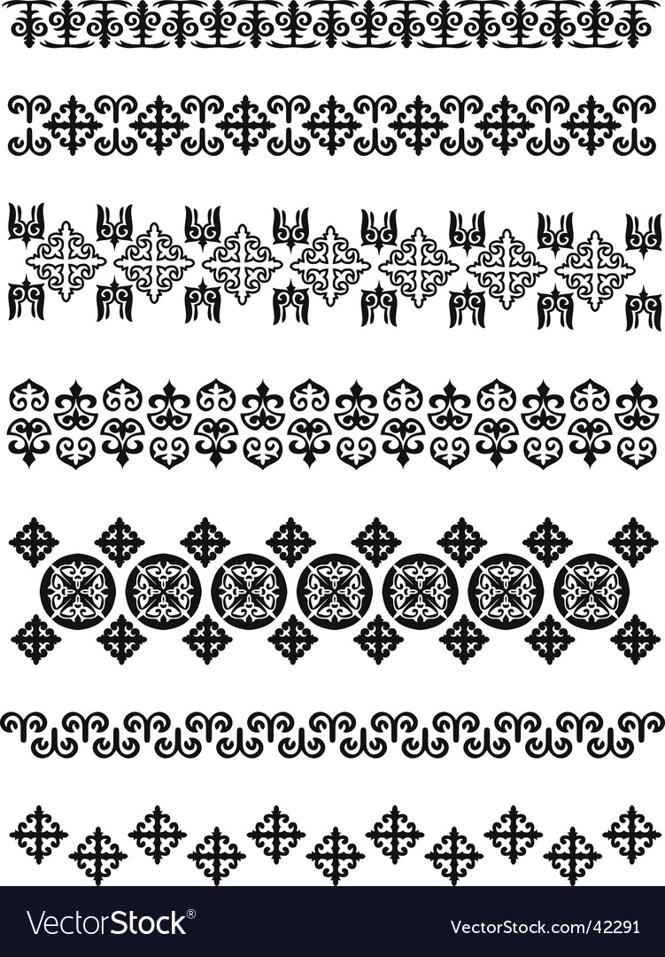 Kazakhstan traditional embroidry vector | Price: 1 Credit (USD $1)