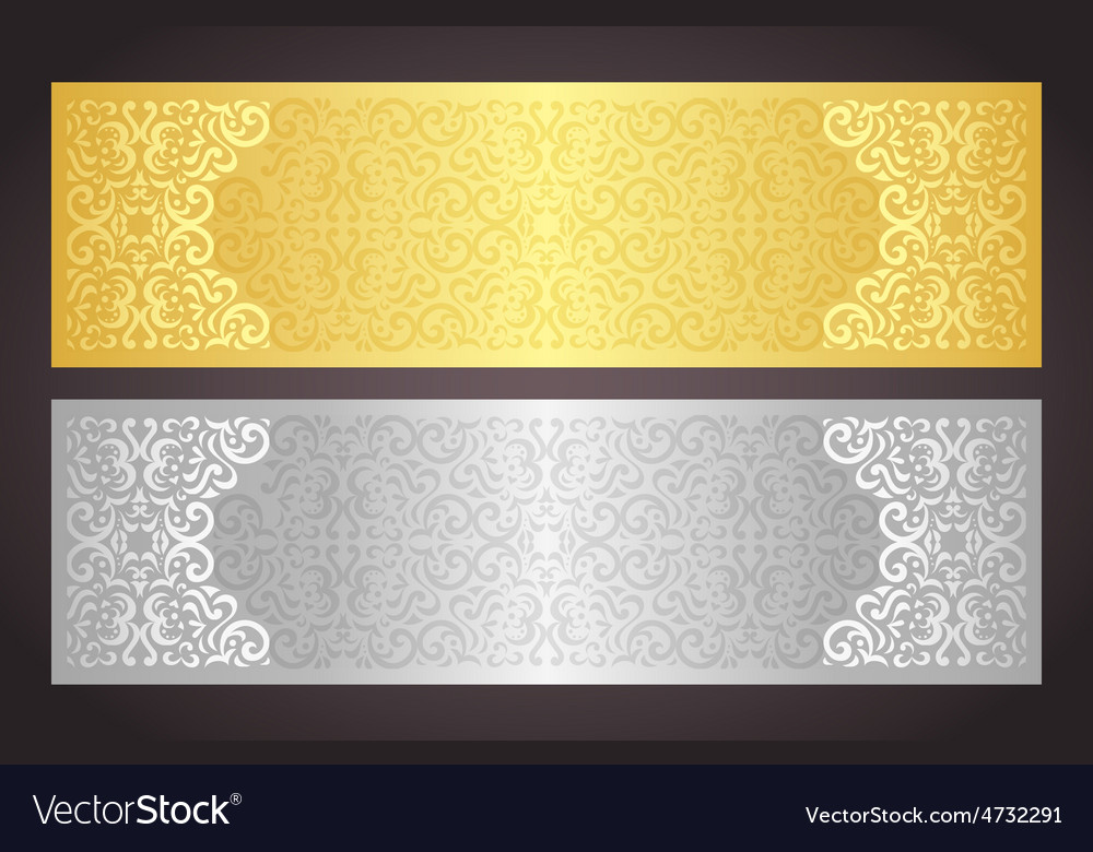 Luxury golden and silver gift certificate in vector