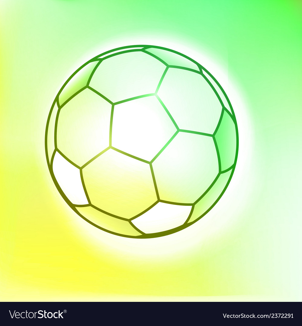 Outline watercolor soccer ball vector | Price: 1 Credit (USD $1)