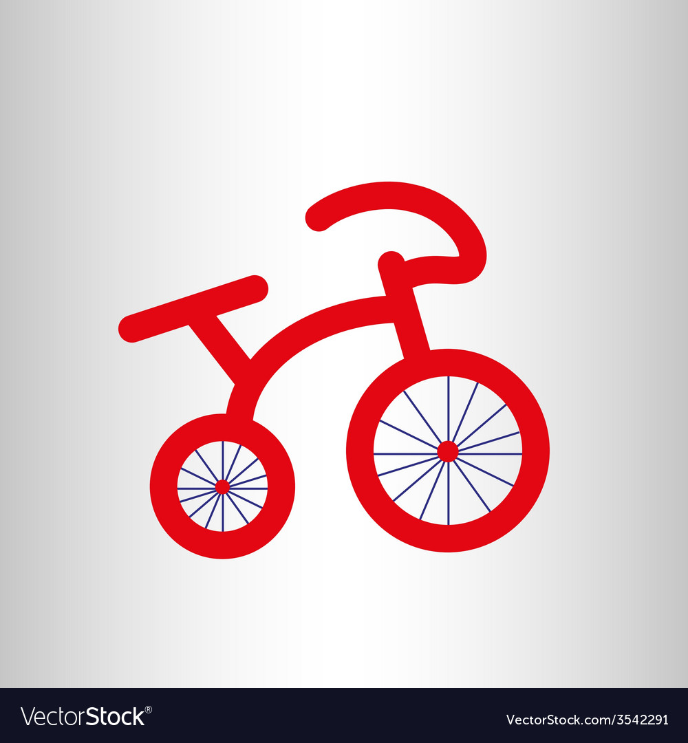 Red retro bicycle icon vector | Price: 1 Credit (USD $1)