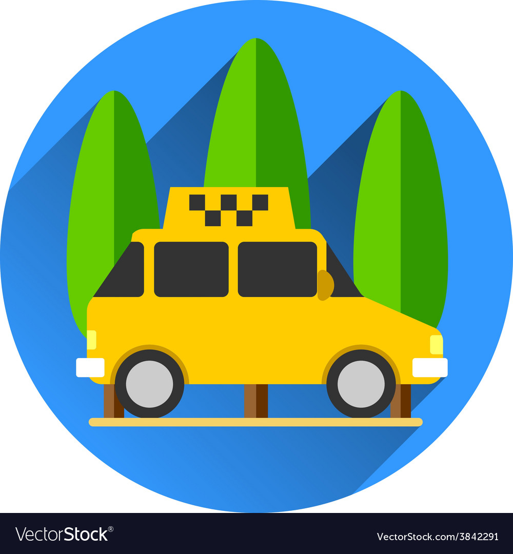 Taxi car flat design vector | Price: 1 Credit (USD $1)