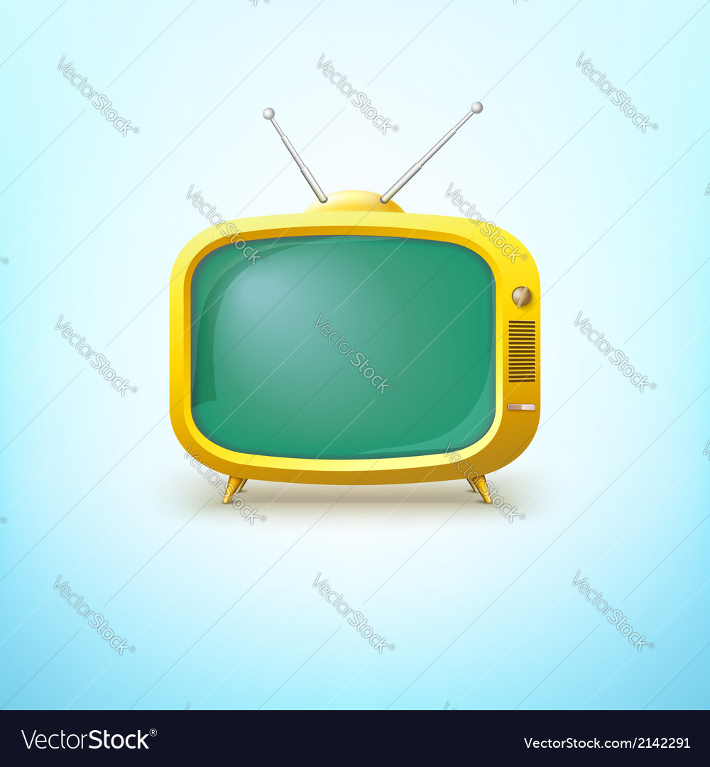 Tv in cartoon style with bright color vector | Price: 1 Credit (USD $1)