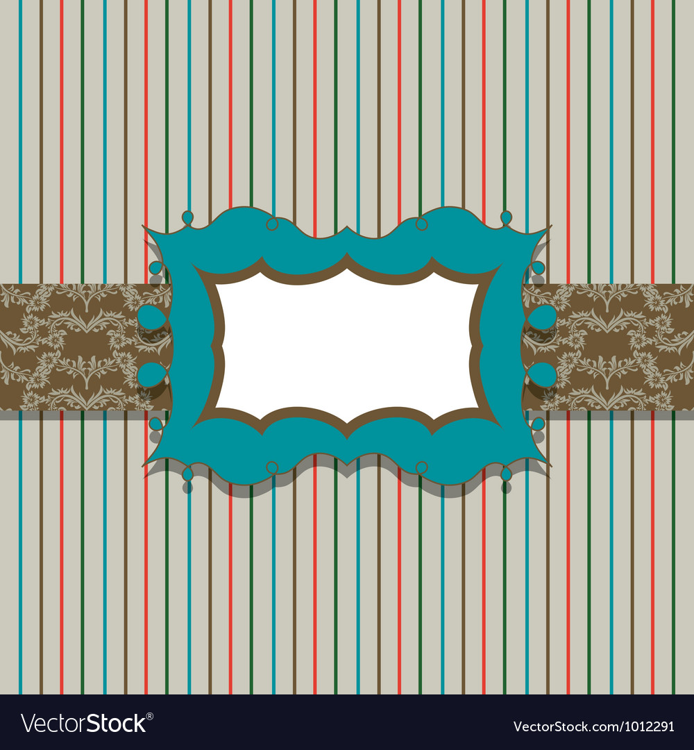 Vintage greeting card template vector | Price: 1 Credit (USD $1)