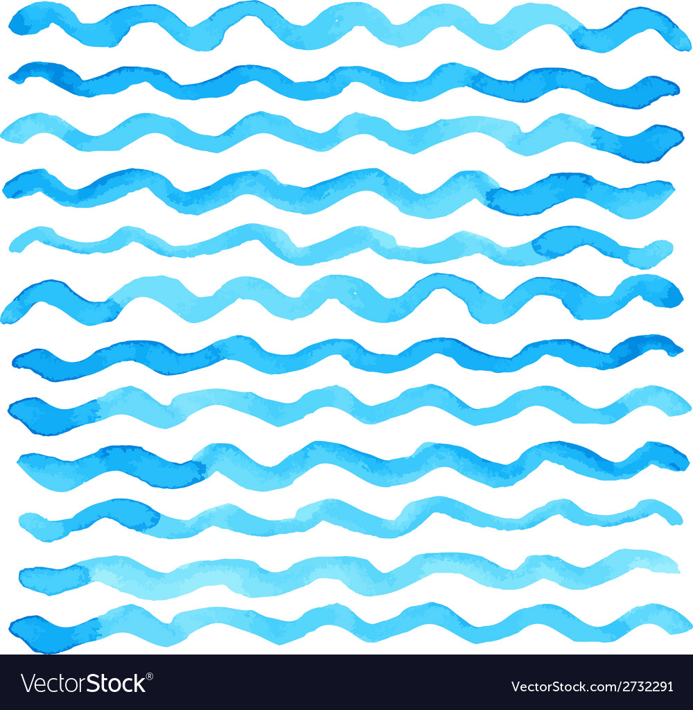 Watercolor wave pattern vector | Price: 1 Credit (USD $1)