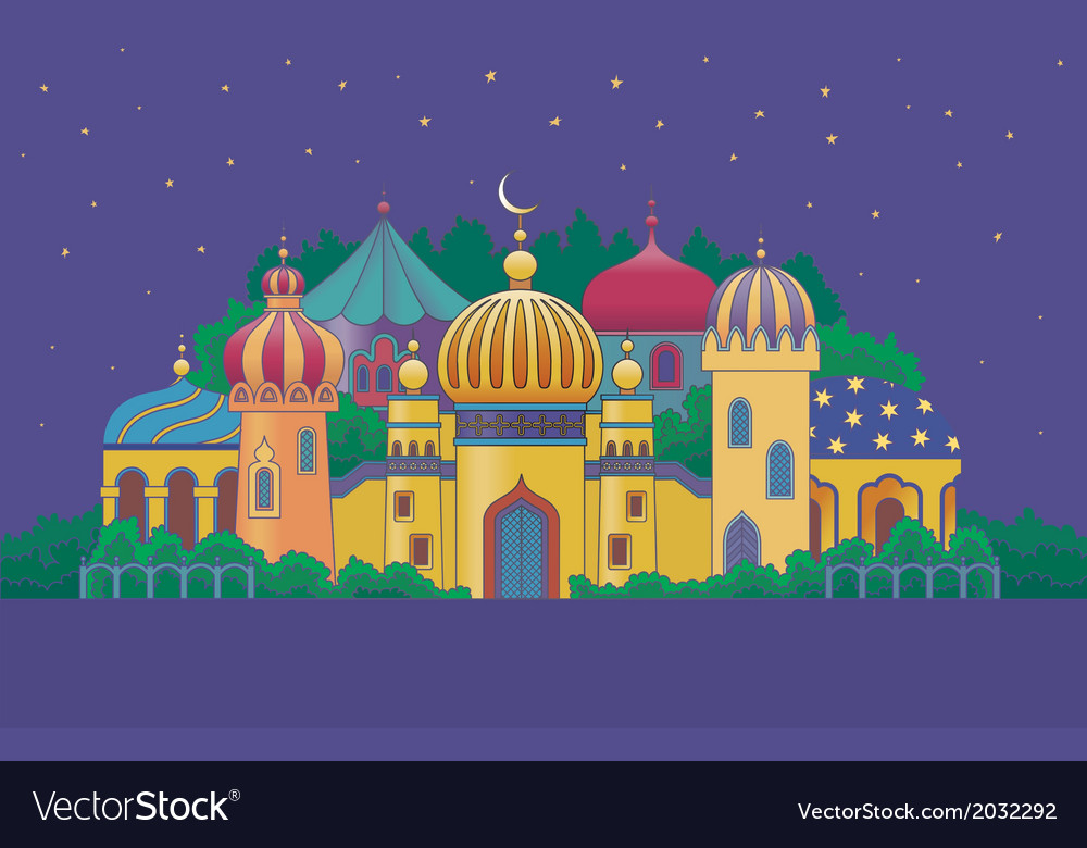Arabian city 1 vector | Price: 1 Credit (USD $1)
