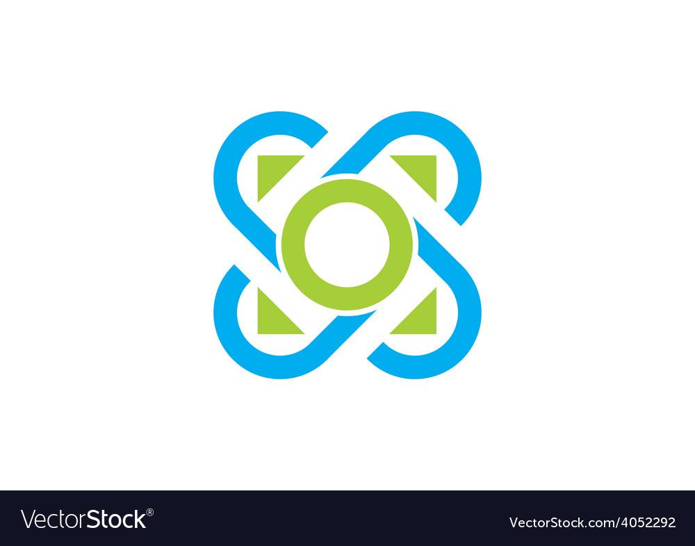 Circle decorative connection logo vector | Price: 1 Credit (USD $1)
