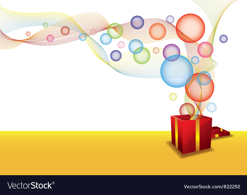 Gift box and bubble vector | Price: 1 Credit (USD $1)