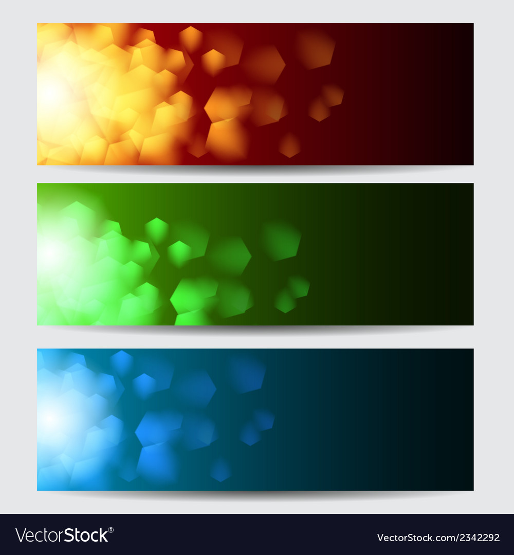 Glowing colorful christmas banners vector | Price: 1 Credit (USD $1)